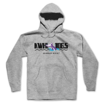 KWHL LOGO - HOODED PULLOVER SWEATSHIRT - LIGHT HEATHER GRAY Thumbnail