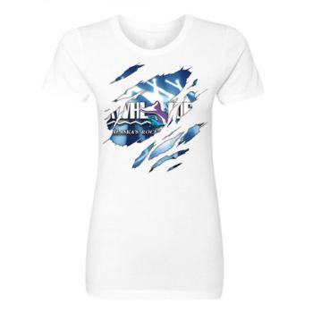 KWHL RIPPED - LADIES S/S TEE - WHITE Thumbnail