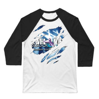 KWHL RIPPED - 3/4 SLEEVE BASEBALL TEE - WHITE/BLACK Thumbnail